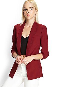Textured Woven Blazer | FOREVER21 - 2000121979
