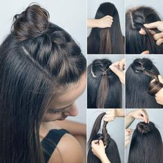Hairstyles updo easy step by step hair style 47 Best ideas Easy Hairstyles Easy hair Hairstyles Ideas STEP Style updo Short Hair Styles Easy, Medium Hair Styles, Curly Hair Styles, Hair Styles Steps, Hair Medium, Easy Hairstyles For Medium Hair, Braided Hairstyles, Pretty Hairstyles, Wedding Hairstyles