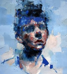 Ryan Hewett - Jacob. Oil on canvas, 100x100 cm