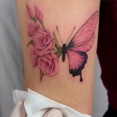likes, 125 comments - female tattoos ☽ tattoos (tattoos . - thousand likes, 125 comments - female tattoos ☽ tattoos (female tattoos) on instag - # Likes, 125 Comments - Female Tattoos ☽ Tat Pretty Tattoos For Women, Rose Tattoos For Women, Butterfly Tattoos For Women, Butterfly Tattoo Designs, Realistic Butterfly Tattoo, Rose And Butterfly Tattoo, Pink Butterfly, Butterflies, Dope Tattoos