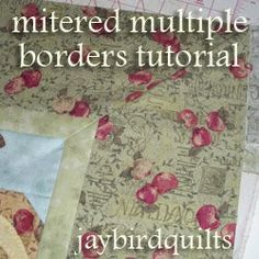 How to Make Multiple Mitered Borders #quilt #tutorial by Julie Herman from Jaybird Quilts