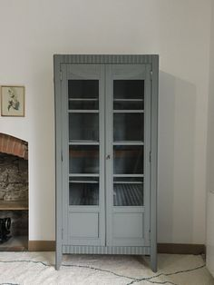 Armoire parisienne vitrée, Tawara -en vogue- Nantes Tall Cabinet Storage, Locker Storage, China Cabinet, Lockers, Vogue, Furniture, Home Decor, Inspiration, Instagram