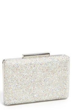 $98, Silver Embroidered Clutch: ROYALE CHIC Box Clutch White. Sold by Nordstrom. Click for more info: http://lookastic.com/women/shop_items/96854/redirect