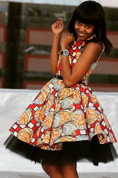 Latest and beautiful short ankara gown styles for ladies, short ankara gown styles and designs, trendy short ankara gown style for slim ladies with flare. Tap on 'Read It' to see them complete African Dresses For Women, African Print Dresses, African Fashion Dresses, African Attire, African Wear, African Women, African Prints, African Clothes, Ankara Fashion