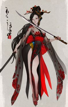 Pin by stephanie chan on character design in 2019 anime art, Fantasy Girl, Fantasy Women, Female Character Design, Character Design Inspiration, Character Art, Fantasy Characters, Female Characters, Photographie Indie, Samurai Artwork