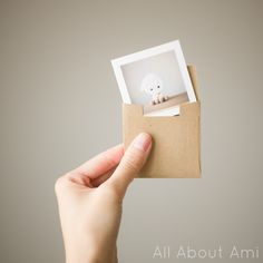 Adorable greeting cards with brown Kraft envelopes that I ordered through Social Print Studio
