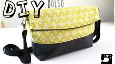 Tutorial - Como hacer un Bolso con cierre magnético - How to make a bag with magnetic closure Patchwork Quilt, Patchwork Bags, Diy Bags No Sew, Denim Purse, Diy Handbag, Bag Patterns To Sew, Sewing Accessories, Zipper Bags, Cloth Bags