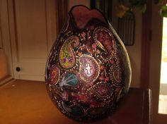 Paisley flowersAbstract Gourd Oklahoma Artist Home by RuttyRoad