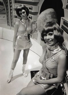 Futuristic outfits on the Moonbase set of UFO, a sci-fi series made by Gerry and…