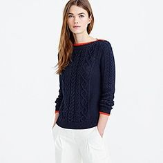 Tipped cable sweater