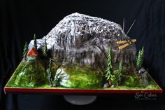 3D Mountain Cake add helicopter                                                                                                                                                                                 More