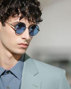 Dries Van Noten On Instagram Shades Of Blue Men Spring Summer  Collection Driesvannoten Dvn Shades Sunglasses Blue Mensfashion Ss