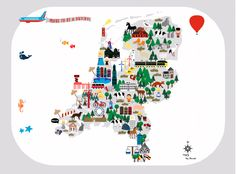 The Netherlands. This map will be an eyecatcher on a kidsroom. But the map will…