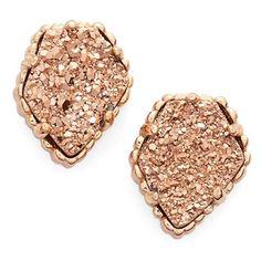 Women's Kendra Scott Tessa Stone Stud Earrings ($50) ❤ liked on Polyvore featuring jewelry, earrings, stud earrings, sparkly stud earrings, kendra scott, earring jewelry and stone earrings