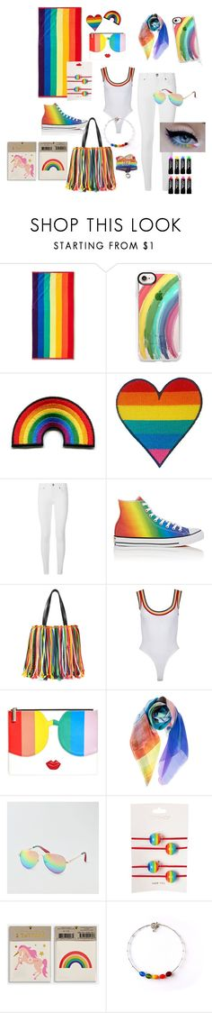 """LGBT to the moon and back"" by tsirilog ❤ liked on Polyvore featuring Room Essentials, Casetify, Burberry, Converse, Emilio Pucci, Alice + Olivia, American Eagle Outfitters, Topshop, Meri Meri and pride"