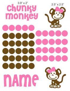 Chunky Monkey Girl cranial band decoration