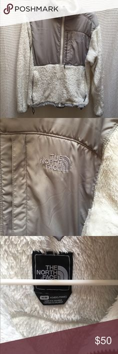 North Face Fleece Fuzzy white North Face fleece in excellent condition The North Face Jackets & Coats
