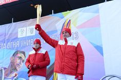 Aleksey Morozov, the famous Russian ice hockey player, captain of Ak Bars Kazan, silver medallist at the 1998 Winter Olympiс Games in Nagano, two-time world champion and Kazan 2013 Ambassador, 1st torch bearer