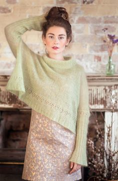 ode au tricot レ knit pullover laine wool pale pastel Mohair Sweater, Knit Cardigan, Jumper, How To Purl Knit, Looks Vintage, Knitting Designs, Pulls, Knit Crochet, Knit Lace