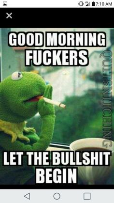 Funny Kermit Memes, Funny Puns, Funny Relatable Memes, Funny Cartoons, Haha Funny, Hilarious, Work Stress Quotes, Work Quotes, Funny Picture Quotes
