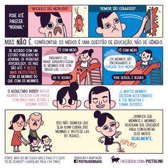 Infográfico da Pictoline sobre igualdade de gêneros