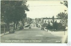 MAIN STREET, CHARLES CITY, IOWA A-375. Charles City Iowa, Lake Mills, Main Street, Minneapolis, Milwaukee, Wisconsin, Postcards, Maine, Cook