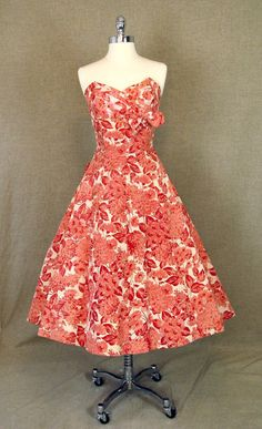 1950s Dress / Vintage Emma Domb Party Dress by AmouretteVintage, $275.00