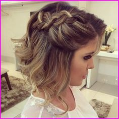 45 Wedding Hairstyles for Short Hair Wedding Guest Hairstyles Short Hair Awesome Gallery Of Wedding Prom Hairstyles For Short Hair, Wedding Guest Hairstyles, Short Hair Updo, Braided Hairstyles, Curly Hair Styles, Hairstyles Haircuts, Short Hair Styles Formal, Long Bob Updo, Hairstyle Wedding