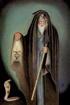 IX - L'ermite - Tarot des âges par Mario Garizio Mago Merlin, The Hermit Tarot, Tarot Cards Major Arcana, The Magician Tarot, Le Tarot, Online Tarot, Steampunk, Epic Of Gilgamesh, Tarot Card Meanings
