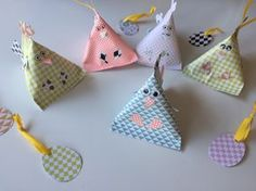 Les cocottes de Pâques en papier : tuto berlingot rigolo
