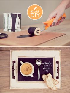 ElephantShoe - Journal - Our DIY on the pretty blog - Serving Tray : a little sunshine to brighten up a wintersday
