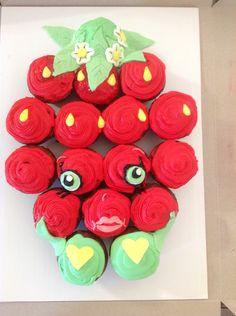 Strawberry Shopkins cupcake cake