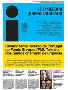 """Haga clic para continuar: Diario """"i"""" de Portugal, el mejor diseño del mundo"""