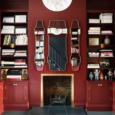 Discover stylish living room design ideas on HOUSE - design, food and travel by House & Garden. Create drama with this shade of glossy oxblood Small Living Room Design, Living Room Red, Small Living Rooms, Living Room Designs, Small Bedroom Interior, Living Room Interior, Gentlemans Quarters, English Decor, Beautiful Home Designs