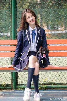 Best 11 Eleanor Lee – Page 536280268128283408 Girl Photo Poses, Girl Poses, School Girl Dress, Girls In Mini Skirts, Chinese Actress, Beautiful Asian Girls, Ulzzang Girl, Japanese Girl, Korean Girl