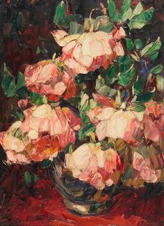 ❀ Blooming Brushwork ❀ - garden and still life flower paintings - Louis Pastour