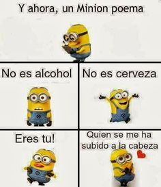 Minion Meme, Funny Spanish Memes, Spanish Humor, Minion Poemas, Chandler Riggs, Love Phrases, Girls Rules, Fathers Day Cards, Fairy Coloring Pages