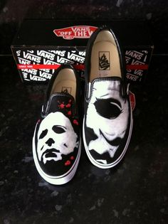 Michael Myers Vans - They are not painted by Vans, go to the site - he paints Chucks too = $180.00
