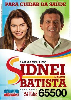 Folheto feito pelo colega Bezerra para candidato a vereador de Florianópolis. Ficou bem bacana, mas eu colocaria o S do logo no mesmo tom de vermelho do restante do nome.