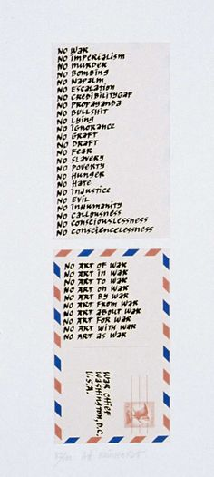 """""""War Chief"""" by Ad Reinhardt, 1967 Political Communication, Ad Reinhardt, American Artists, Abstract Expressionism, Art Museum, Initials, Campaign, Nyc, Peace"""