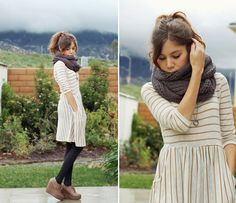 love the scarf and the wedges