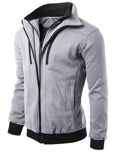 Doublju Mens Double Inner Full-Zipper Jacket #doublju