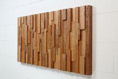 Legno recuperato a parete arte 48 x 24 x 2  di CarpenterCraig, $800.00