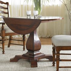 Waverly Place 42 In. Drop Leaf Pedestal Table