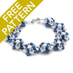 Silver Star Bracelet Pattern for CzechMates by Nichole Starman