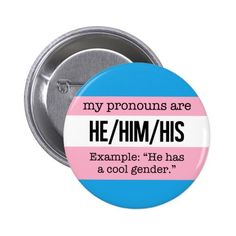 He/Him Pronouns – Transgender Flag