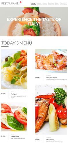 Italian Restaurant Website Design For Gourmet Catering