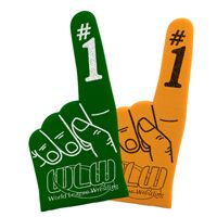 """Custom Imprint 16"""" Foam Cheering Mitts are a Team Spirit Must-Have!"""
