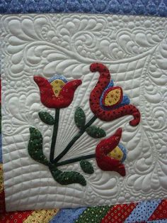 appliqué flowers and quilting