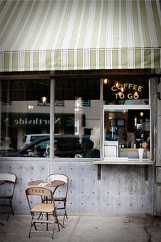 Five Leaves, New York. Love the takeout window.